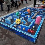 3D streetpainting Pac-Man – Leon Keer