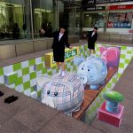 3D street art Piggy Bank in Fukuoka Japan Zoom – Leon Keer